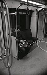 health sciences jubilee (teh hack) Tags: hp5 ei 3200 iso asa ddx nikon fe2 lrt edmonton transit subway be nb film bw black white street candid photo photography people person