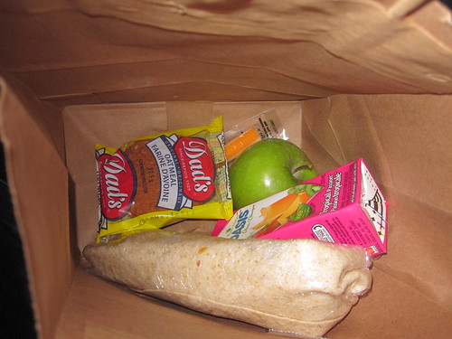 Packed lunch from the bistro - free
