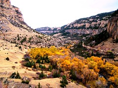 WY-US16-10sleepCanyon long hor best 10-06 (lauramdellinger) Tags: cliff canyon wyoming bighornmountains us16 tensleepcanyon