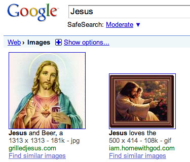 Jesus on Google - Offensive