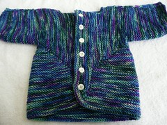 Baby Surprise Jacket - STR med rare gem