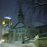 Québec: L'église St-Andrew, le soir