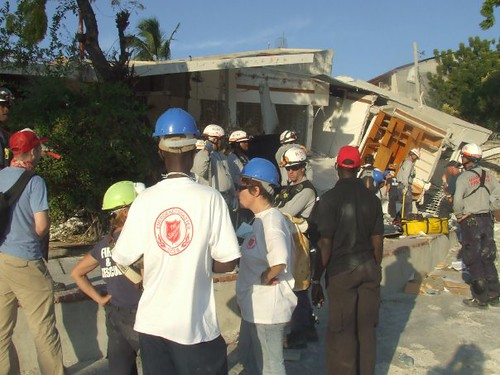 Salvation Army disaster service teams are helping in Haiti. Kroger gave $1,000 toward the relief efforts.