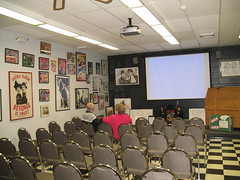 The screening room at the Laurel & Hardy Museum