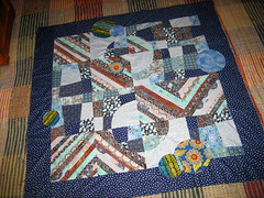 Circle Me Happy!:) (DeeRoo G) Tags: blue brown orbc circlequilt