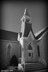 Stone Church (pam's pics-) Tags: bw usa church america us midwest worship ks pray kansas wilson methodist smalltown unitedmethodistchurch wilsonkansas pammorris nikond40 denverpam