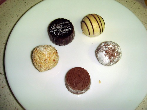 Assorted choclates from Choclicious