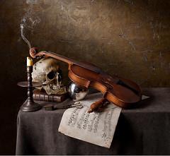 Requiem Still Life (kevsyd) Tags: music skull candle violin vanitas ostrellina kevinbest