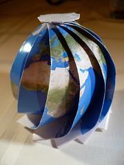 Vitroid's and oschene's Globe (oschene) Tags: globe origami map projection mathmap developable curvedsurface vitroid