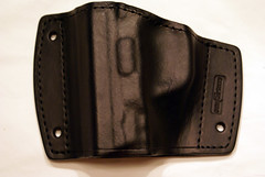 Car mountable holster for S&W M&P 40 or 40C, mount inside your glovebox or console box