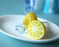 Bijoux Gourmands - Miniature Food - Tiny Citrus Studs (PetitPlat - Stephanie Kilgast) Tags: fruits yellow fruit lemon fake jewelry bijoux bijou jewellery polymerclay fimo citrus earrings minifood citron artisan studs minis zitrone bouclesdoreilles polyclay miniaturefood gourmands fauxfood miniaturen petitplat stephaniekilgast