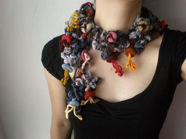 Lonicera Caerulea ... Freeform Crochet Scarflett