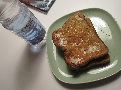 Toast and water