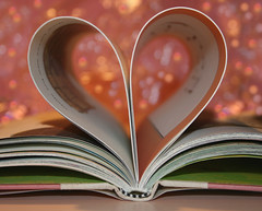 My Heart is an Open Book~ 35/365 (~ Amy) Tags: pink love heart explore valentinesday openbook project365 bookheart themonthoflove bookbokeh
