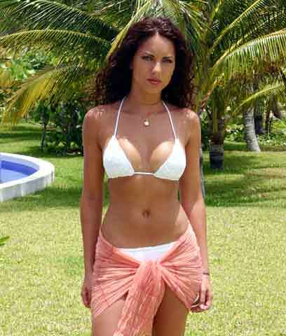 Mexican actress Barbara Mori in a swimsuit