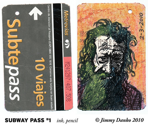Sketch of the Day 2-3-2010: Back of Subway Pass #1