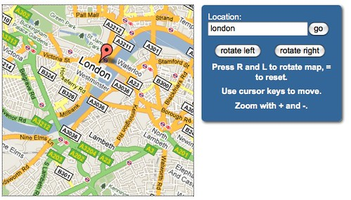 Rotating a map with CSS3 and jQuery by  you.