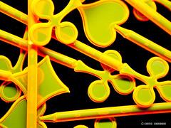 Schwarzlicht (Kati Kerber) Tags: orange black yellow check neon cross heart bright kreuz gelb fluorescent blacklight transparency transparent karo herz schwarz pik leuchtend spade dazzling schwarzlicht grell uvlicht fluoreszierend cocktaildeko