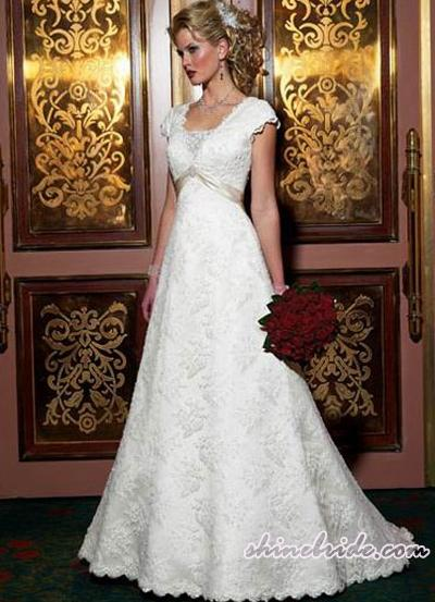 Expensive wedding dress design A-line style