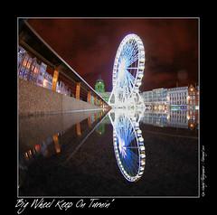 Big Wheel Keep On Turnin' (setsuyostar) Tags: iso1600 nightscapes explored sigma8mmfisheye kenhawley winter2010 canoneos5dmarkii february2010 nottinghamwheel nottinghamlightnight2010 ourfavoriteflickrshots