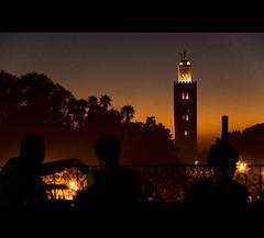 Romance is in the air.. (Danil) Tags: africa winter sunset holiday tower warm daniel islam morocco atlas marrakesh marokko balkony mainsquare d300 jamaaelfna grandterracedubalcon