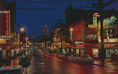Chinatown at Night - Vancouver, British Columbia (Jordan Smith (The Pie Shops)) Tags: canada vancouver vintage chinatown britishcolumbia postcard
