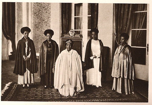 Empress Menen and Princesses of Ethiopia in the early 1930's