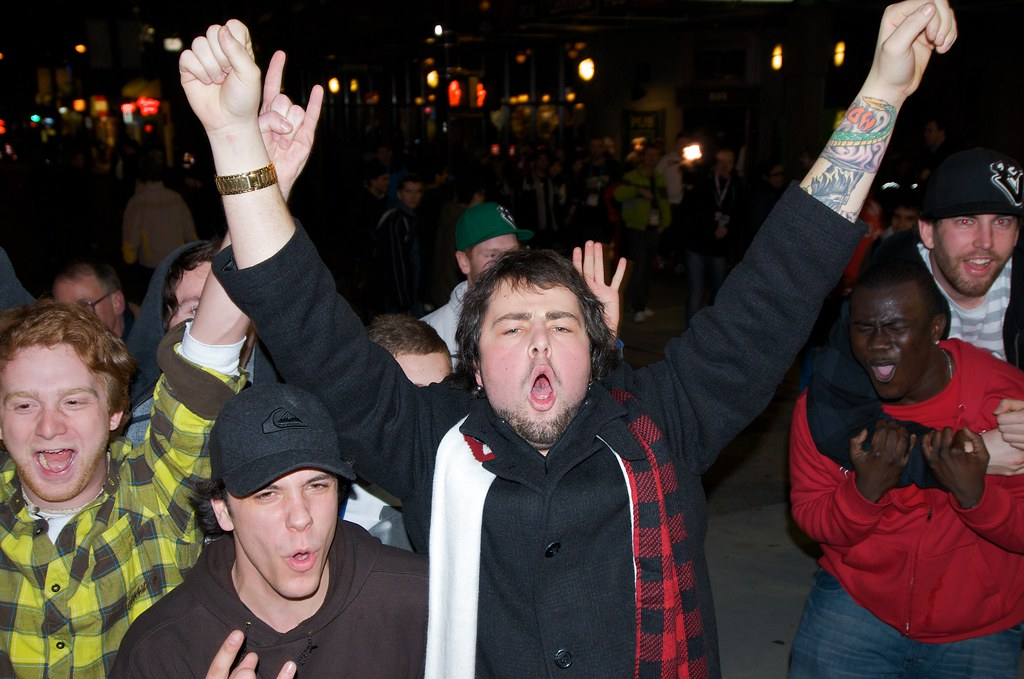 Fans Celebrate Canada's Victory
