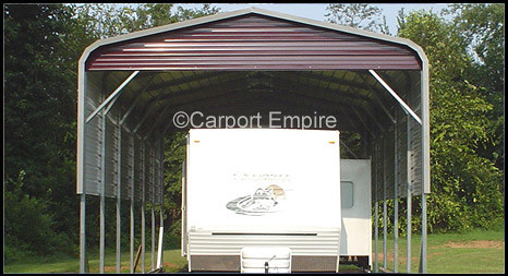 Motorhome Carport with Double Side Panels