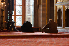 Praying at the Blue Mosque
