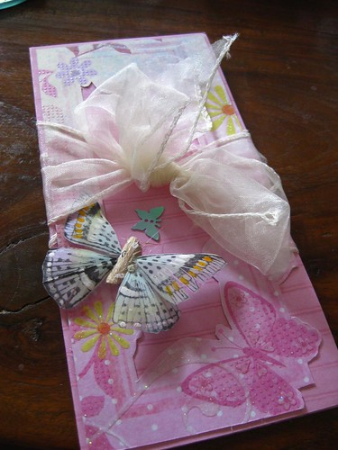 Pink ButterflyHandmade Wedding Invitations