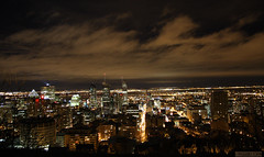 Montreal From Mont royal by night (dzpixel) Tags: voyage city longexposure light panorama cloud canada night canon vacances town mtl quebec montreal hiver montroyal nuit nocturne ville skycrapers 2010 dz montroyale amerique samlam dzpixel feveirer