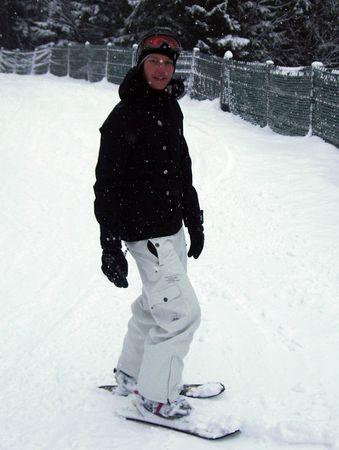 Mami beim Ski fahren