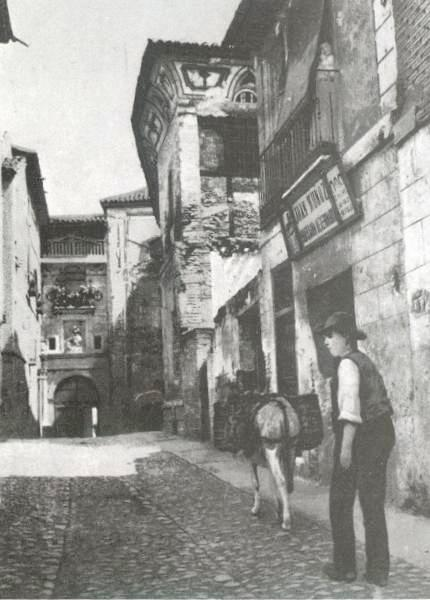 Calle de Santa Fe a principios del siglo XX. Foto Purger