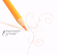 Life without you is like a pencil without lead .... pointless (dhmig) Tags: orange closeup pencil highkey