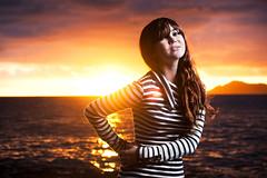 Gabriela Scarlett Pelletier (Jeremy Snell) Tags: ocean china sunset portrait scarlett cute beach girl fashion 50mm hawaii high warm pretty paradise stripes kai flare honolulu walls gabriela pelletier strobist