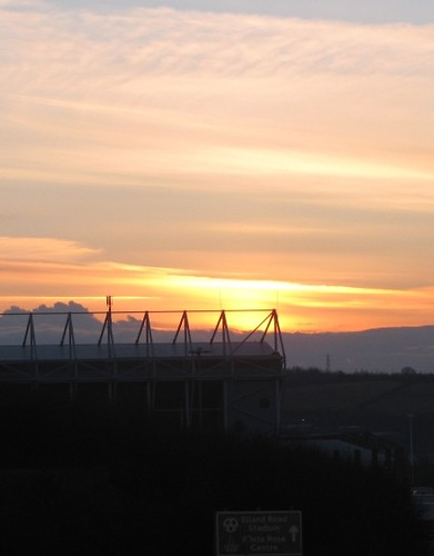 Sunset over Elland Road