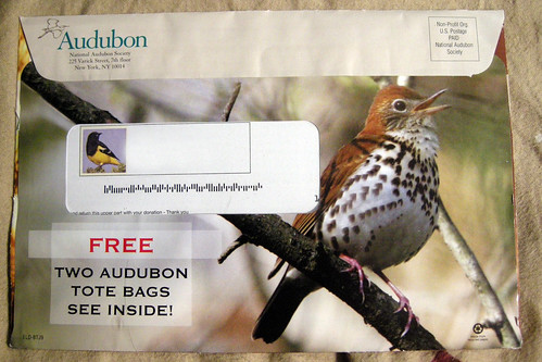 Audubon Society Mailer With My Photo