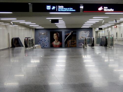 Metro de Lisboa: Estação S. Sebastião
