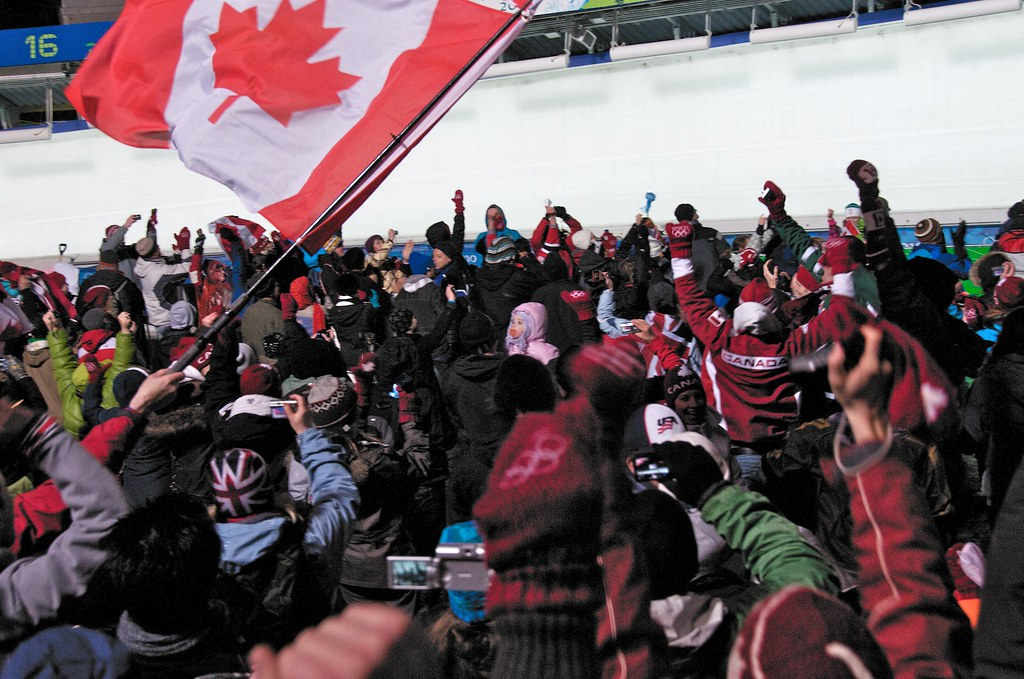 Crowd Cheers as Canada Wins Gold AND Silver