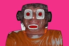 The mask (alain vaissiere) Tags: color art photoshop design photo mixed drawing creative dessin moderne graff toulouse alain couleur charme artiste contemporain vaissiere graffiphoto wwwalainvaissierecom