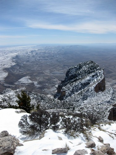 Backside of El Capitan as seen from Guadalupe Peak
