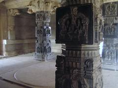 597. Hampi (15) Interior Pillars (profmpc) Tags: architecture temple interior stonecarving scuplture pillars hampi desecrated vijayangara krishnadevarayar