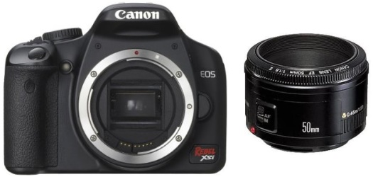 Canon XSi with 50mm f/1.8 II lens
