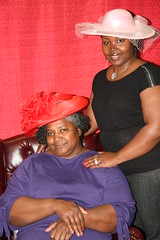 2010 Crowns Tea 614 (Pioneer Library System) Tags: pink red woman oklahoma girl hat lady female tea library system norman crown pioneer