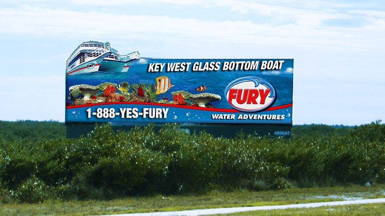 Fury Glass Bottom Boat Billboard