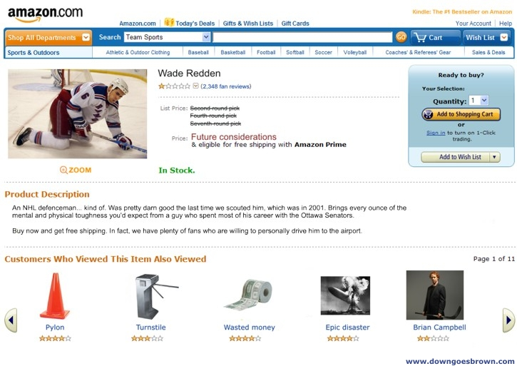 Redden on Amazon