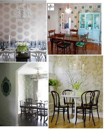 wallpaper dining rooms