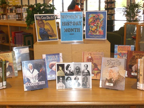 Women\'s History Month-Mid Valley Display