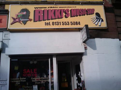 Shop Front of Rikki's Music Shop Edinburgh